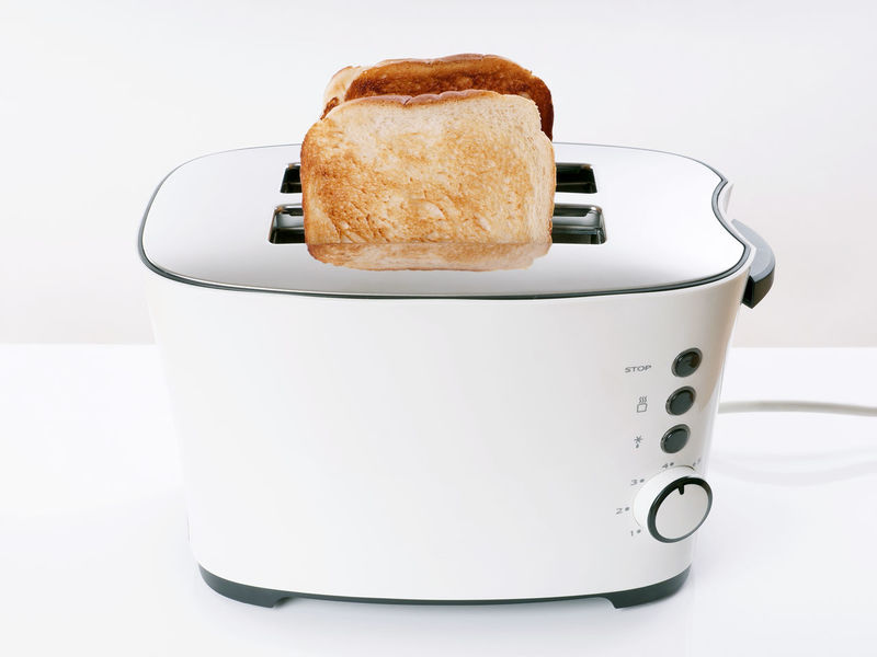 Toast Appliance Bread Breakfast Close-up Food Kitchen No People Studio Shot Toasted Bread Toaster White Background