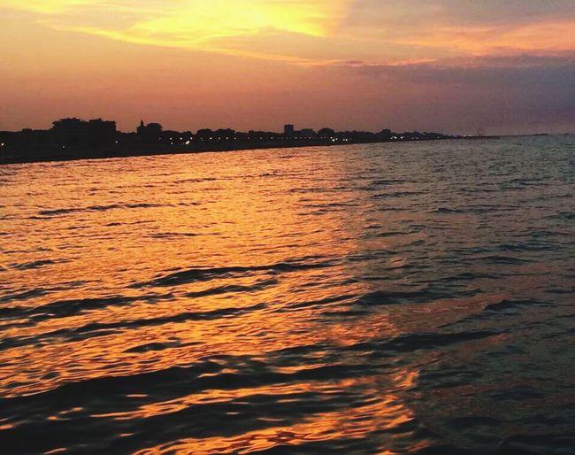 Sunset in Rimini.
