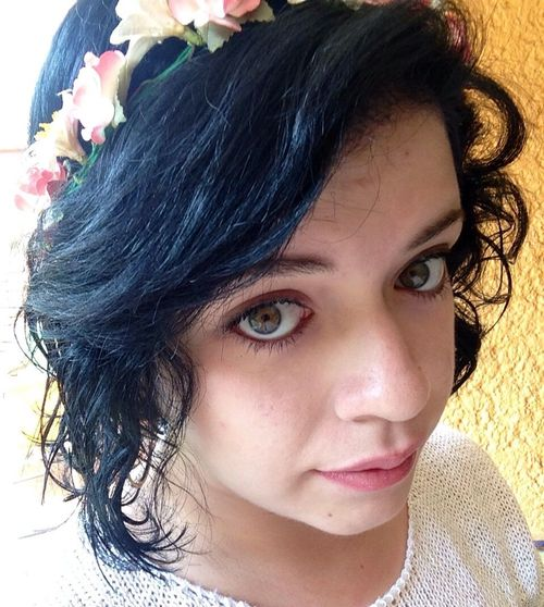 Selfie Blue Smile Flower