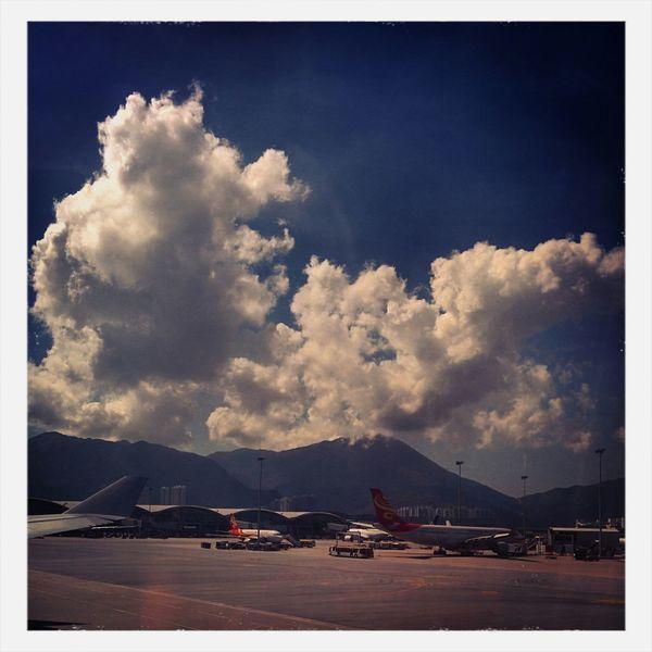 Hong Kong International Airport Airport Wingman HongKong Clouds
