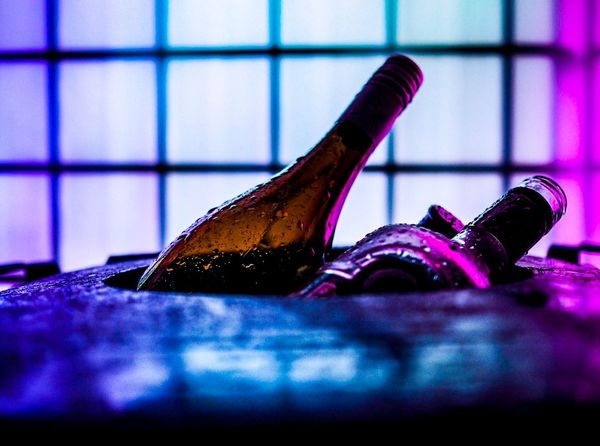 Bottle No People Close-up Indoors  Work Tool Day Trashcan Outdoors Bottles Of Wine Neon Colored Neon Lights Neon Depth Of Field Stuttgart,Germany Stuttgart Illuminated Rain Raindrops Olympus Olympus OM-D E-M5 Mk.II Colour Your Horizn Stories From The City
