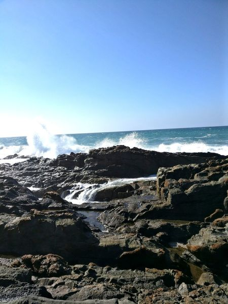 Sea Splashing Water Nature Wave Outdoors Beauty In Nature Beautiful Place No People Sky