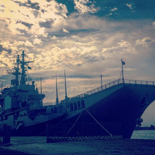 Military ship at Catania, Italy Nautical Vessel Sea Travel Photography