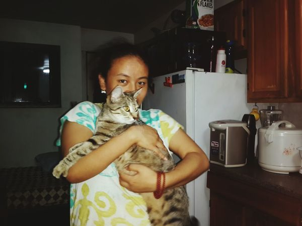 Love You My Littel Sister ❤❤ Looking At Camera Cute Cat 😻 Cute Cut Beside Me Pure Nature, Amazing Lifestyles Love Night Life L