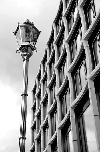 The Architect - 2017 EyeEm Awards Lighting Equipment Streetlamp Bnw_friday_eyeemchallenge Building Exterior Schwarzweißfotografie Modern Architecture Upper West Berlin Architecture Bnw Monochrome Photography Upper West Motel One Minimalism Low Angle View Simply Beautiful Berlinstagram Black And White Friday The Graphic City