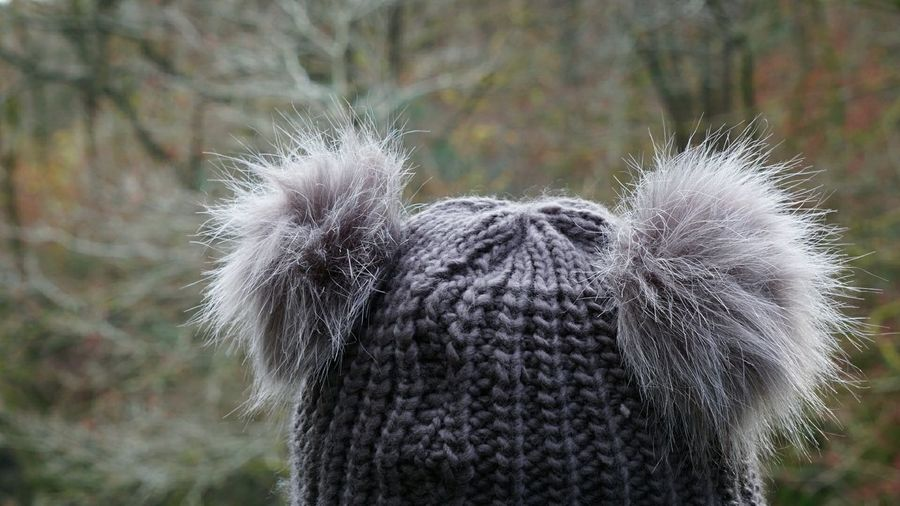 To make you smile.... Picture this? A fluffy grey bear wears a woolly hat!! especially for Sylvia @sylb Woolly Hat Bobble Hat  Fur Ball Focus On Foreground Close-up Toque  The Week On EyeEm Adult Softness Warmth Winter Hat Lighthearted Young Women Just For Fun