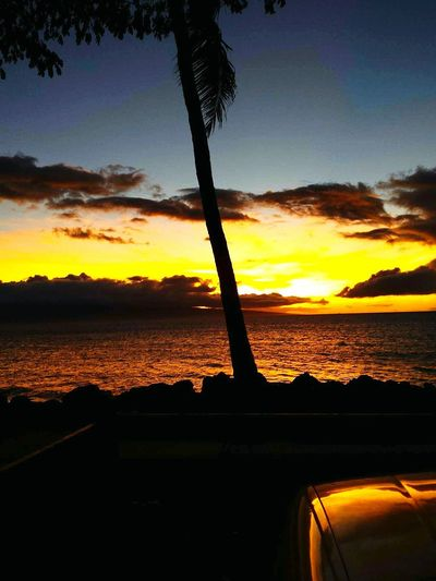 After the sun spends all day against you, in the end you get to watch it fall while you enjoy a few... Sunset Beauty In Nature Sea Reflection Water Nature Vacations Sky Tranquility lahaina Maui Nokaoi Maui, Hawaii Mauibuilt Hawaiian Islands
