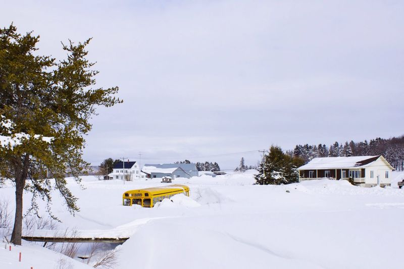 Travel Photography Canada Quebec Bus My Winter Favorites Snow ❄