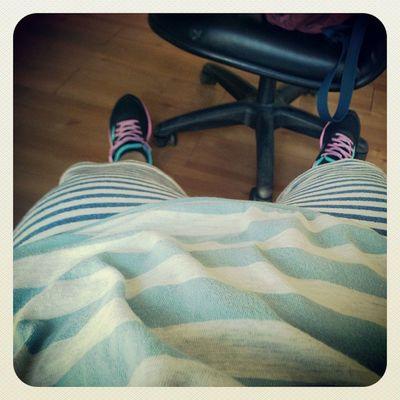 今天走藍條紋風啦,哈哈哈哈哈:))Blue Stripe