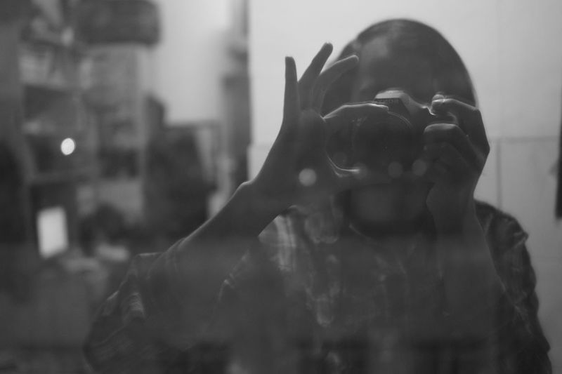 The EyeEm Facebook Cover Challenge not in mirror Self Reflection Sony Urban 4 Filter B&W Portrait Snapshots Of Life