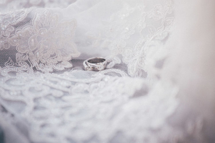 Backgrounds Beauty In Nature Close-up Fragility Frozen Full Frame Ice Crystal Nature No People Purity Ring Scenics Season  Selective Focus Surface Level Tranquility Wedding Wedding Day Wedding Dress Wedding Photography Weddings Around The World
