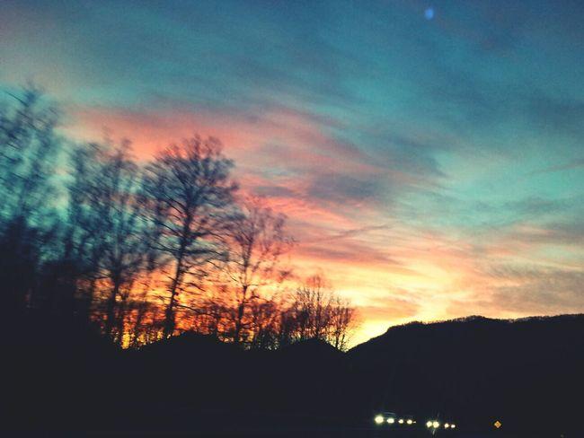 enjoying the sunset in NC. Christmas 2013. Enjoying Life