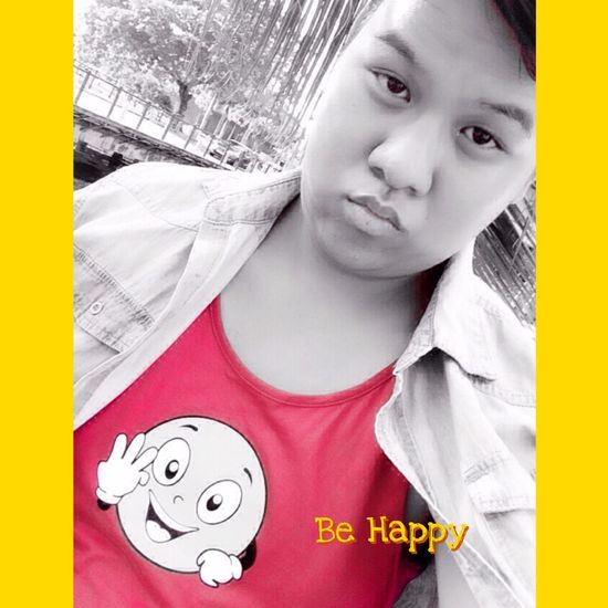 That's Me Hello World Happy International Day Be Happy Gay Gayboy Hanging Out Selective Color
