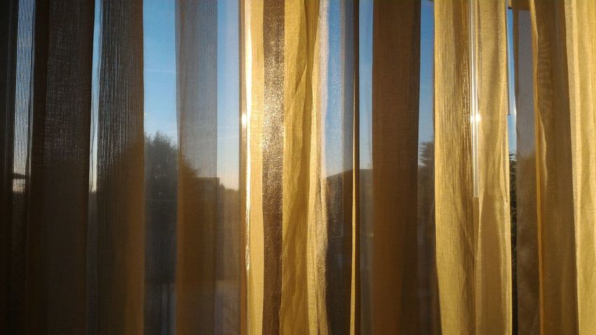 Curtain Curtains Golden Glow Golden Glare Glares Fabric Seethrough First Eyeem Photo Home See Through Atmospheric Mood Atmospheric Transparent Transparency Pattern Pieces Patterns