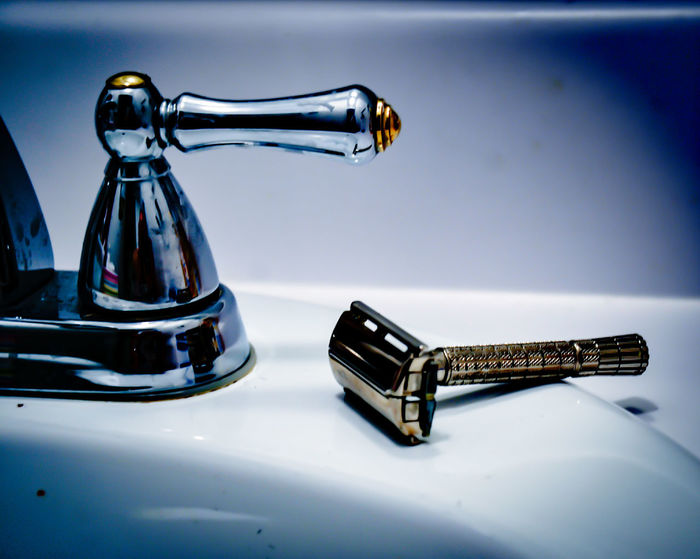 There And Back Again Shaving Sink Bathroom Old Razor