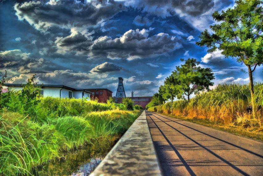 Architecture Cloud Cloud - Sky Cloudy Colorful Edit Edited Ewald HDR Himmel No People Pentax Sky Tree Trees Way Weg Wolken Zeche