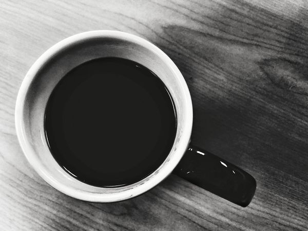 Bnw_friday_eyeemchallenge Bnw_coffee Table Indoors  No People Close-up Day Mug Cup Coffee Black And White