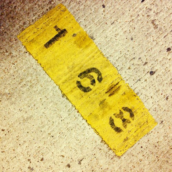 168 Number Numbers Ground Concrete Cement Yellow Grey Gray Gray And Yellow Grey And Yellow Urban Concrete Industrial Stencil