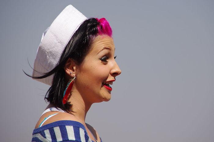Beauty Casual Clothing Close-up Confidence  Contemplation Friendly Friendly Faces Headshot Human Face Leisure Activity Lifestyles Person Portrait Sail Away, Sail Away Sailer Sailors Hat Smile