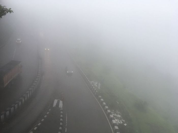 Fog Transportation Foggy Weather Connection Mist No People Outdoors Day City Amrutanjan Point Lonawala