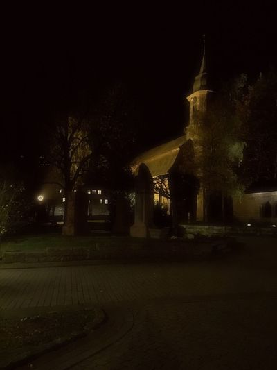 Night Built Structure Architecture Building Exterior No People Outdoors Tree Sky Illuminated Church Architecture Blackforest Germany Iphone6plus Dreamy Quiet Bad Herrenalb
