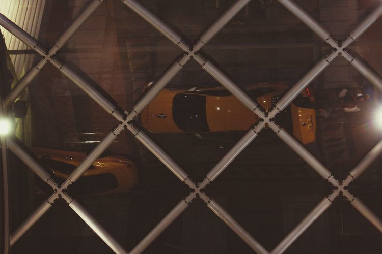 Reflection Taxi Hotel Arrival Fence Metal Pattern Chainlink Fence No People Full Frame Security Safety Architecture Design Wire Mesh Geometric Shape Protection Shape Close-up Backgrounds Boundary Wire Industry Barrier