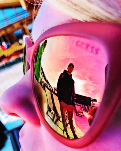 500px IPhone Only Portrait Family Vacation Winter Sunset Mobilephotography IPhone X IPhone IPhoneography ShotOnIphone Shot On IPhone Luis Alm Slopes Ski Snow Austria Hinterglemm Salzburg Saalbach Colour Pink Sunglasses Reflection Leisure Activity Real People Outdoors Close-up
