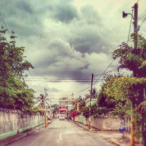 Long way to go.../ un largo Camino Clouds Streetphoto Tree Road