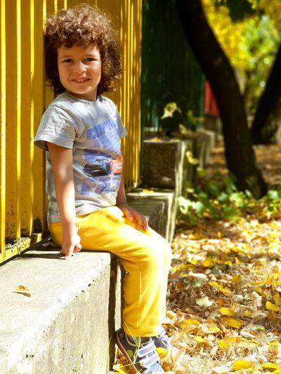 My boy-my all #boy #smiling Full Length Childhood Outdoor Play Equipment Girls First Eyeem Photo
