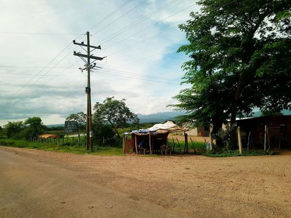 Honduras Third World Country Third World Shack Poverty Mountian View Cross Road
