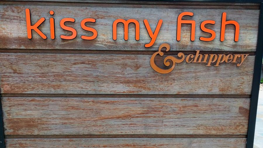 Fish Restaurant Kiss My Fish Funny