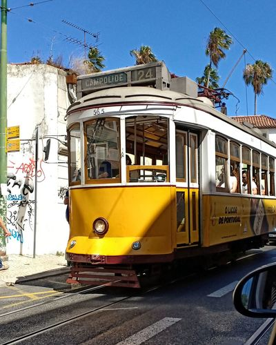 🚋🇵🇹 Tramway Lisbon Portugal Nofilter Yellow