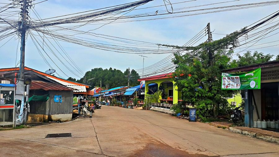 Pak Nam Lang Suan Village Chumphon Day Fishing Village Outdoors Pak Nam Lang Suan Power Line  Thailand The Way Forward Village View