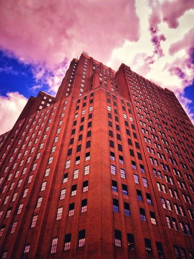 Cloud - Sky Sky Low Angle View Architecture Built Structure Outdoors Day Red Cloud Building