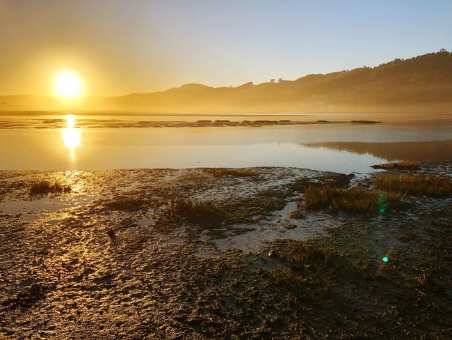 Asturias Sunset Water Sun Nature Sea Scenics Beauty In Nature Travel Destinations Sand Reflection Sunlight Day Sky No People Outdoors Tranquility Beach Tranquil Scene