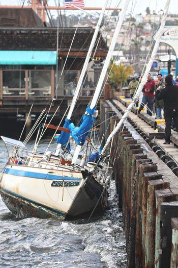 Adrift Bad Weather Crash Crashing Waves  Danger Disaster Loose Out Of Control Sailboat Sailing Sandiego Sandiego_ca Storm Wind Yacht