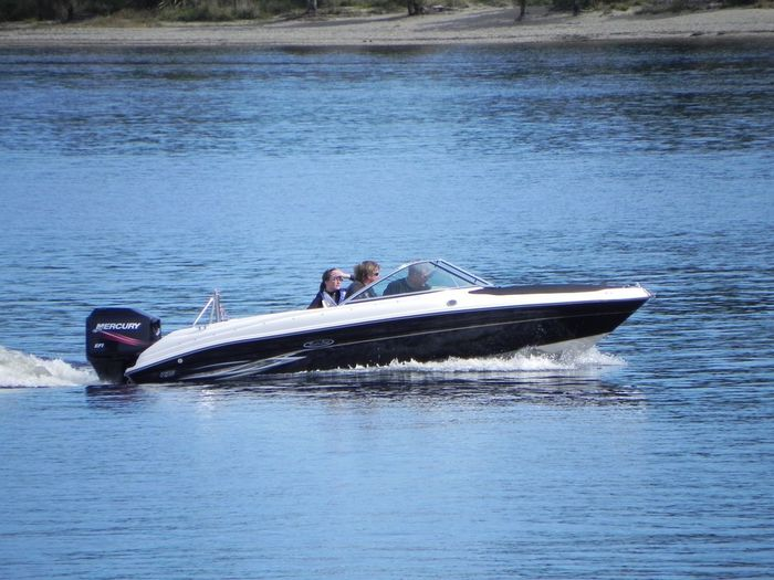 Speedboat On Lake Brunner - New Zealand Transportation Water Day Real People Waterfront Outdoors Nautical Vessel People An Eye For Travel
