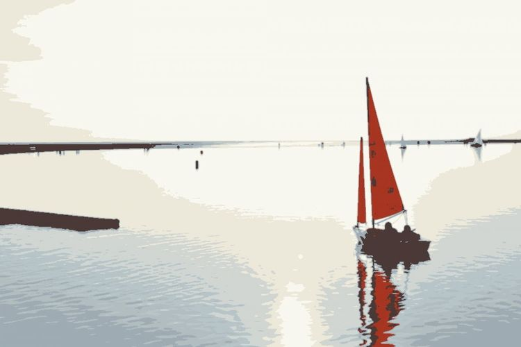 Beauty In Nature Boat Boat On Lake Clear Sky Day Mode Of Transport Nature Nautical Vessel No People Outdoors Reflection Sailboat Sailing Sailing Boat Scenics Sea Sky Transportation Water Waterfront West Kirby
