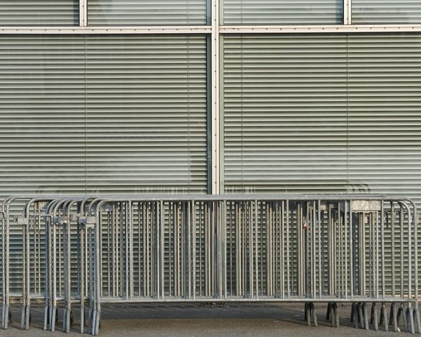 Metal No People Steel Pattern Day Outdoors Corrugated Iron Rotterdam Shutters Down