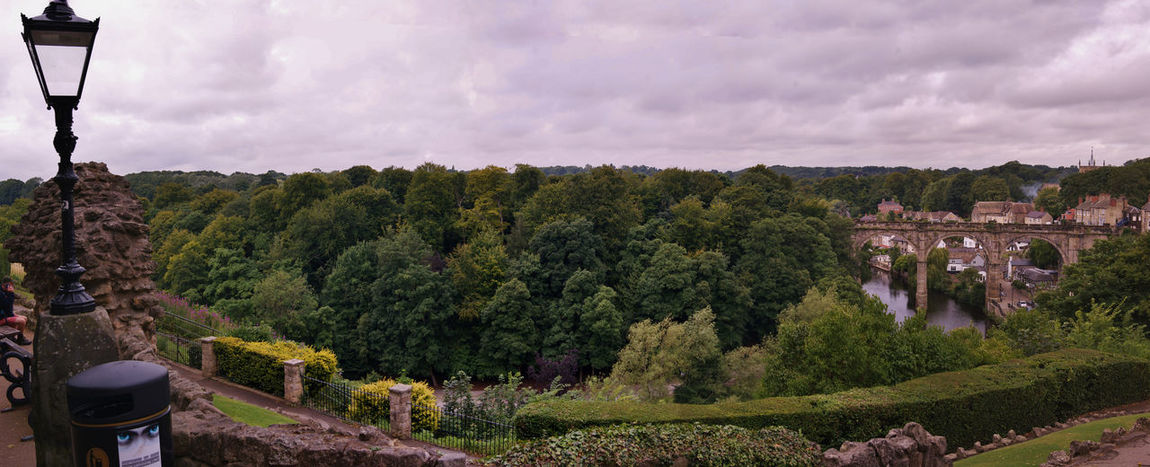 a view of the viaduct from the castle # Highangle #scenicview #green #looking Down #man Made #nopeople #Panorama #sky #trees #nature #earth #summer #trees #viaduct The City Light