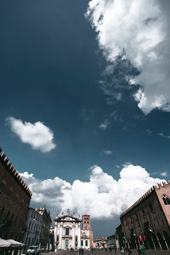 Mantova Building Exterior Cloud - Sky Architecture Sky Built Structure Low Angle View Building Residential District Day Outdoors Plant Nature City House No People Tree Blue Street