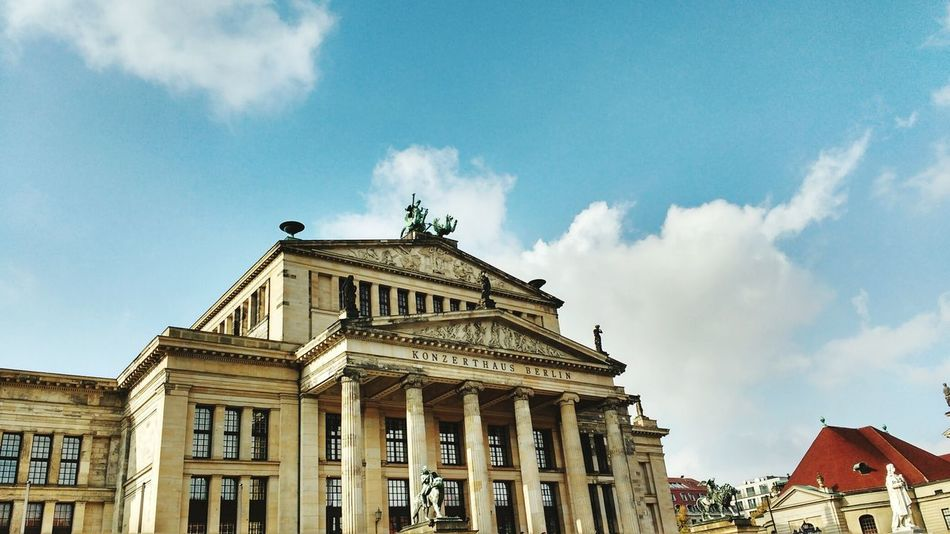 City Architecture Travel Destinations Government Tourism Sky No People Day Outdoors Konzerthaus Berlin Gendarmenmarkt Berlin Mitte Clouds And Sky