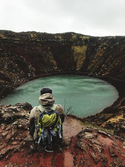 Old volcano! Outdoors Nature Iceland Adventure Mountain Ice Real People Day Nature Water Sky One Person Lifestyles