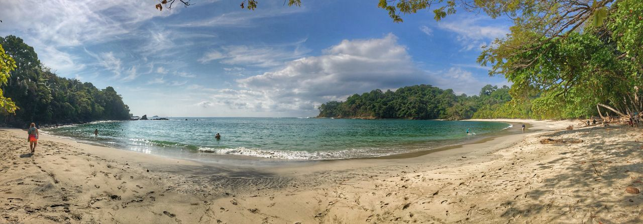 Panoramic View Panorama Picturesque National Park Manuel Antonio Seaside Eye Em Around The World Travel Destinations Water Beach Tree Land Sky Sand Cloud - Sky Beauty In Nature Sea Tranquility Scenics - Nature Tranquil Scene Day Nature Sunlight Idyllic Outdoors