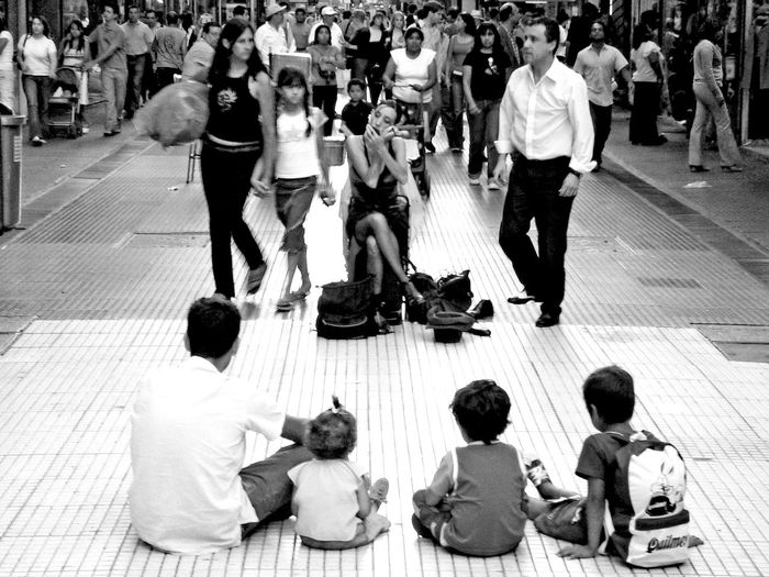 Busy Casual Clothing City City Life City Street Crowd Crowded Day Full Length High Angle View Large Group Of People Leisure Activity Lifestyles Men Outdoors Person Street Togetherness Waiting Weekend Activities Buenos Aires, Argentina  Tango Dancers
