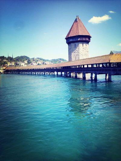 Lucerne Switzerland Summer Bridge