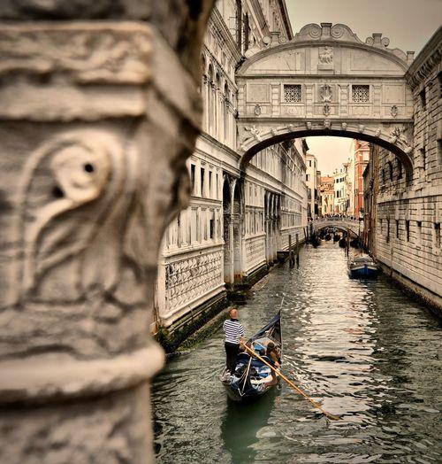 Nikon OpenEdit Italy Italia Travel Destinations Travel Photography Venezia Gondola - Traditional Boat Water Nautical Vessel Arch Architecture Gondolier Venice - Italy Veneto