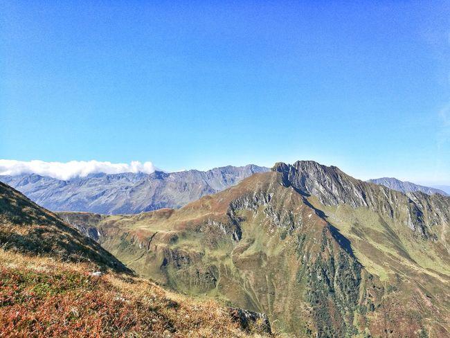 Eyemphotography EyeEmNewHere Outdoors Hikking Sun Summer Mountain Sky Mountain Range Landscape