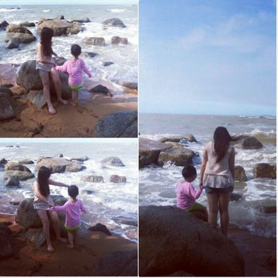Play Water Beach With my nephew lovely cute together funtime happytime instaholiday instahappy instamood instagood