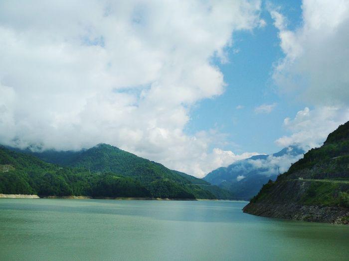 Enguri River Water Mountain Lake Tree Sky Mountain Range Cloud - Sky